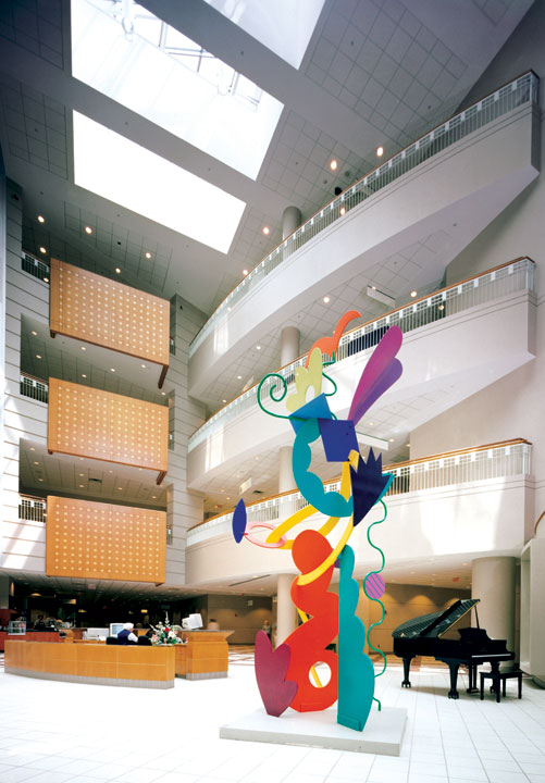 "Sculpture ""Hope"" in atrium space"
